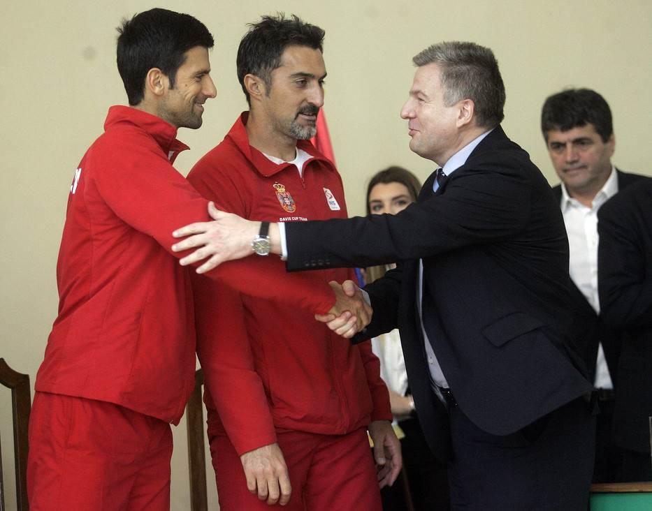 Mirko Petrović, Novak Đoković, Nenad Zimonjić