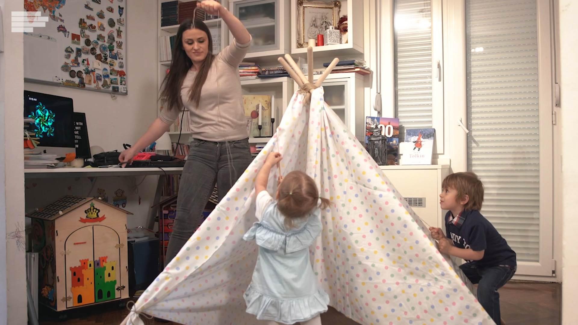 Napravite šator sa klincima, lako i uz puno zabave!