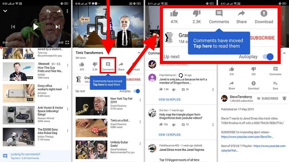 YouTube UKIDA komentare ispod videa