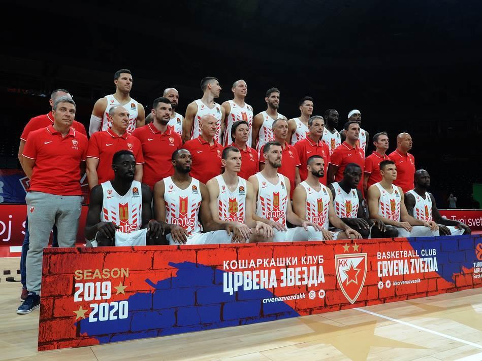 Media day košarkaša Crvene zvezde, u Beogradskoj Štark Areni.