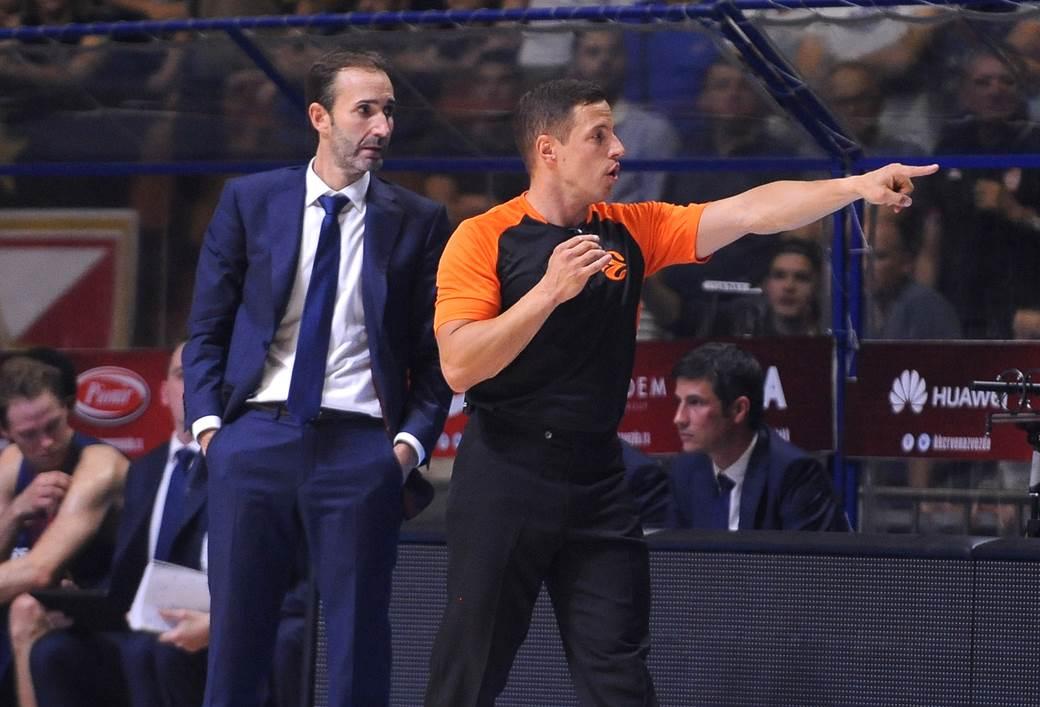 Oleg Latiševs na utakmici Zvezda - Barselona 20. oktobra 2017.