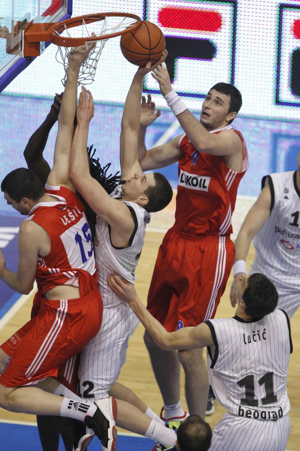 Detalj sa utakmice Partizana i Zvezde iz decembra 2011.