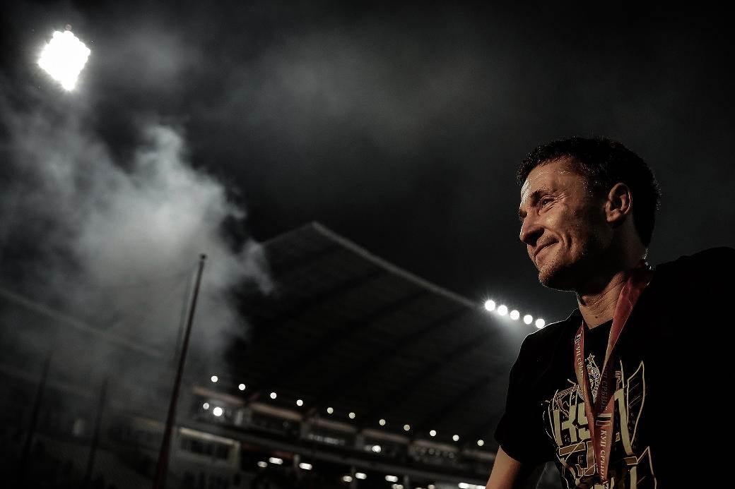 Jedna od poslednjih utakmica kapitena Partizana Saše ilića i slavlje nakon osvajanja Kupa Srbije protiv Crvene zvezde.