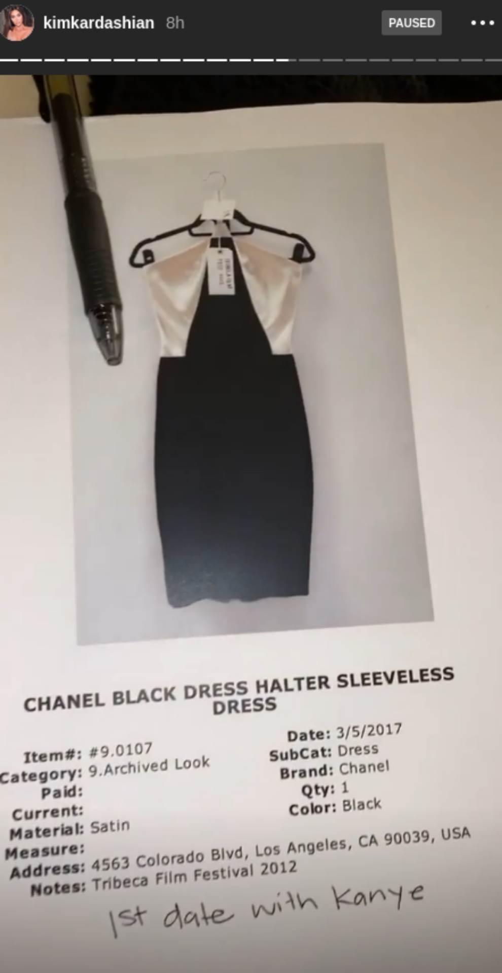 Kim Kardašijan, haljina