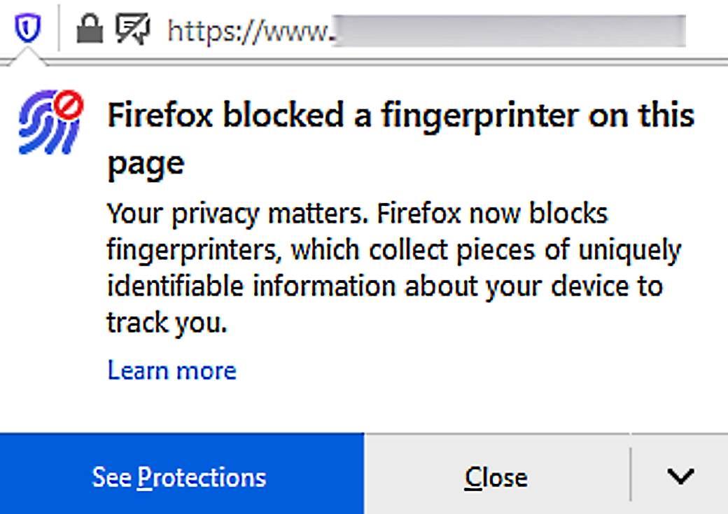 Firefox Blok čitača otiska prstiju Firefox Fingerprinter Block 1.jpg