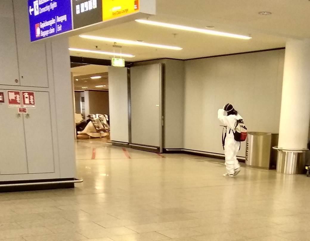 korona virus aerodrom frankfurt putnici