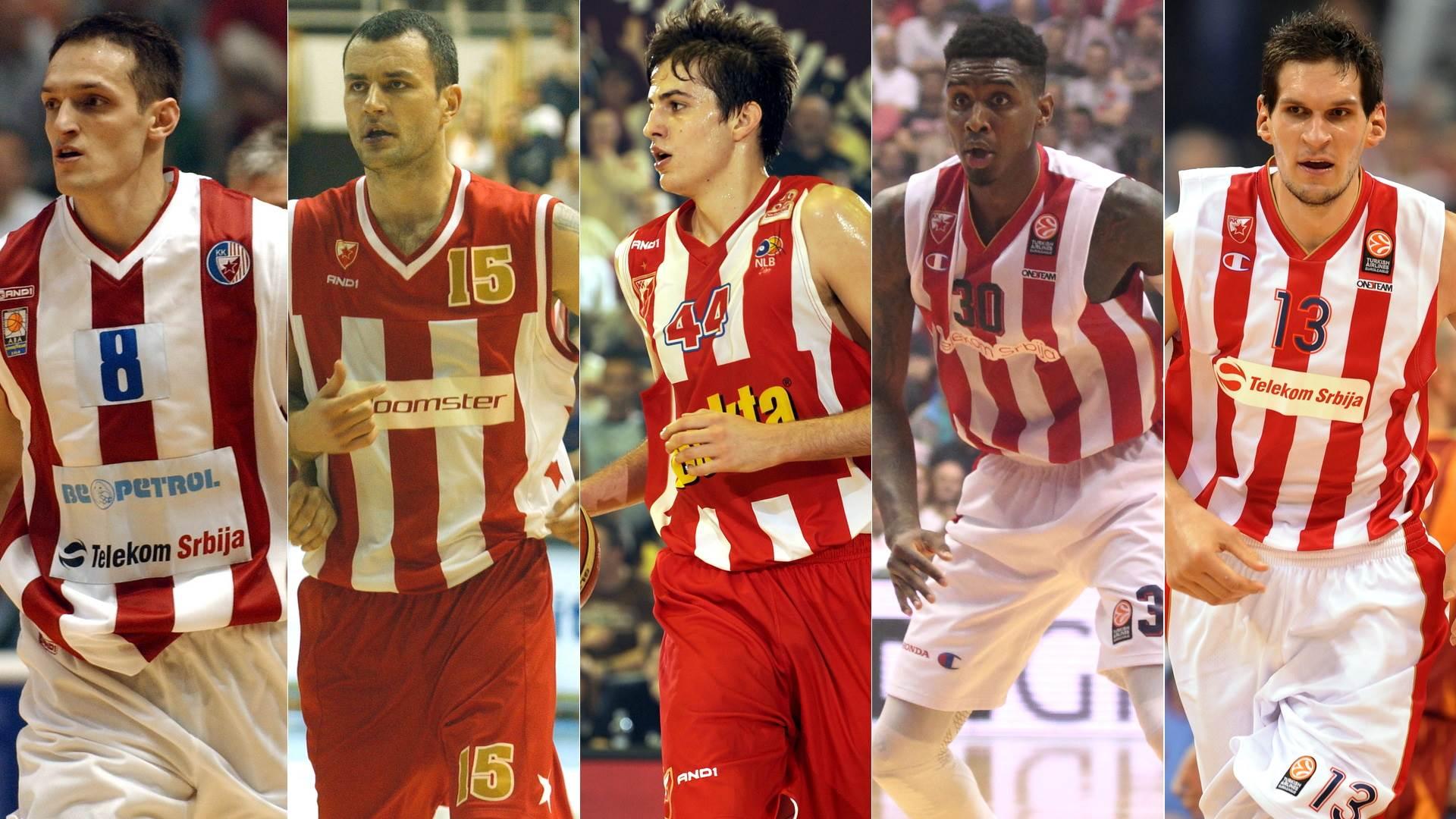 KKCZ, KK Crvena zvezda, idealni tim, najbolji tim, Rakočević, Gurović, Bjelica, Miler, Marjanović