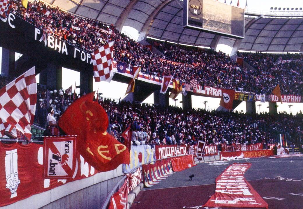 delije, stadion, tribine, sveti nikola, bari 1991, zastava