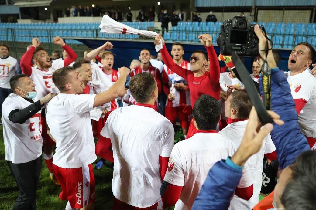 zvezda 31 titula šampion 2020 slavlje na banjici dejan stanković milan borjan i ekipa