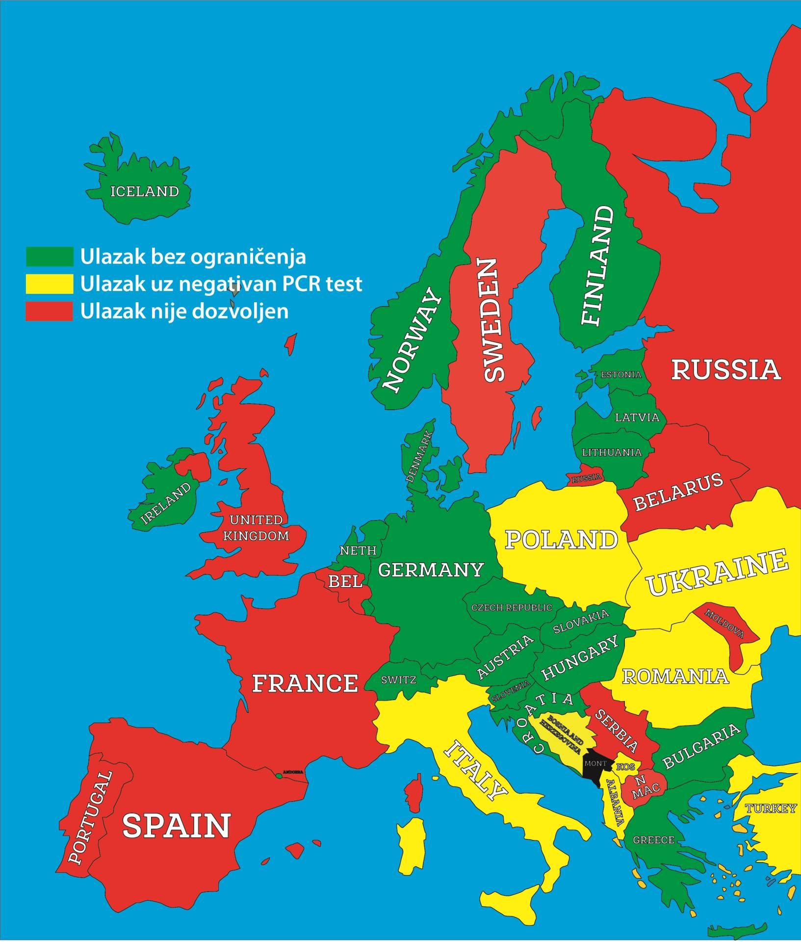 kovid mapa crnogorci