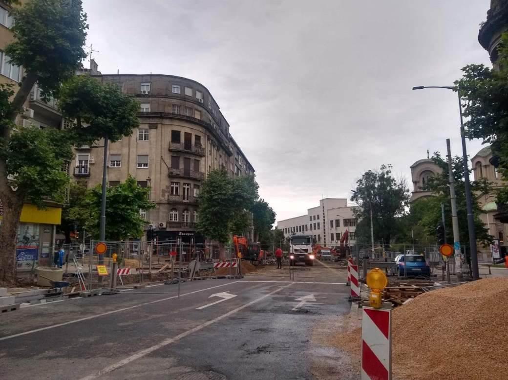 Radovi u ulici cara Dušana