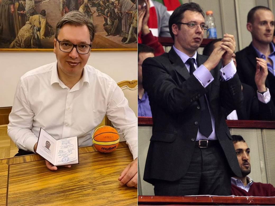 vucic upisao fakultet kosarkaski trener.png
