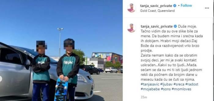 Tanja Savić objava