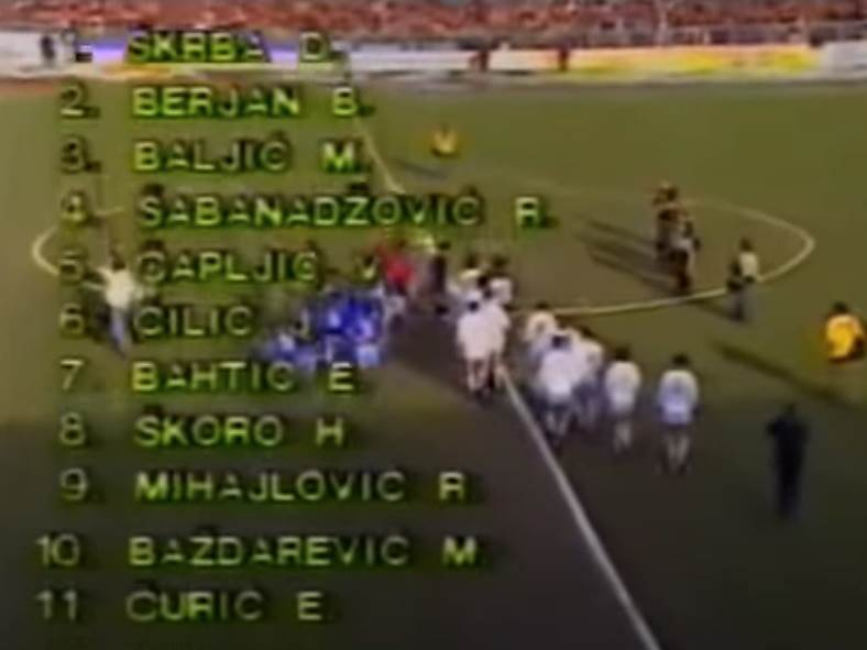 Željezničar - Dinamo Minsk 2:0, četvrtfinale Kupa Uefa 1984/85.