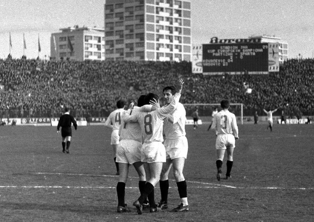 Partizan - Sparta Prag 5:0, Kup šampiona 1965/66
