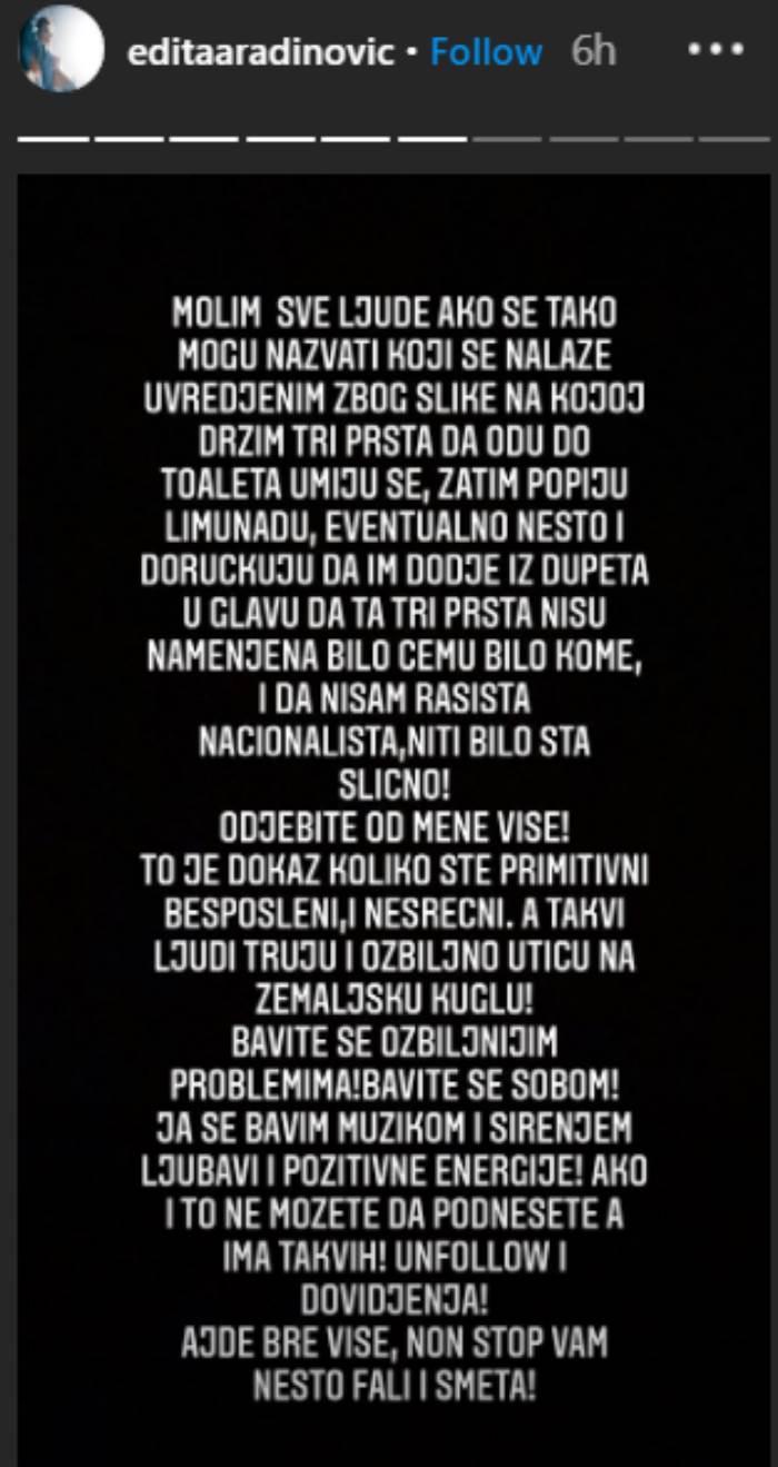 Edita Aradinović objava