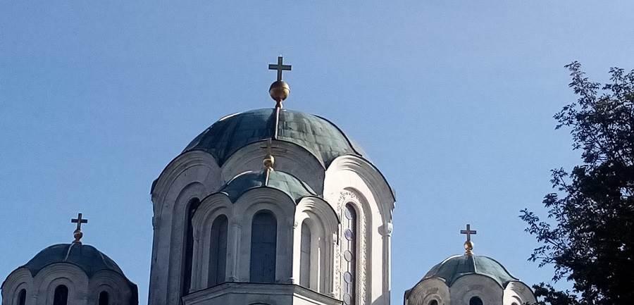 kupola crkve svetog djordja sa krstom na oplencu