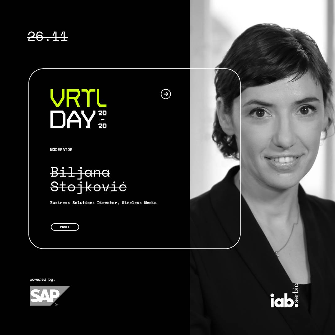 Iab Srbija Digital Day 26. novembar Virtual Day webinar online, Biljana Stojković