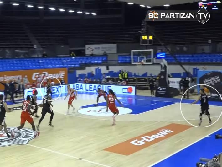 KK Partizan teren poslednji napad večiti derbi KK Crvena zvezda