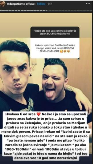 milan petkovic, gastoz instagram