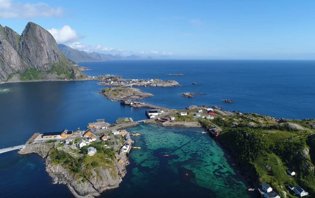 norveška, priroda, ostrvom, more