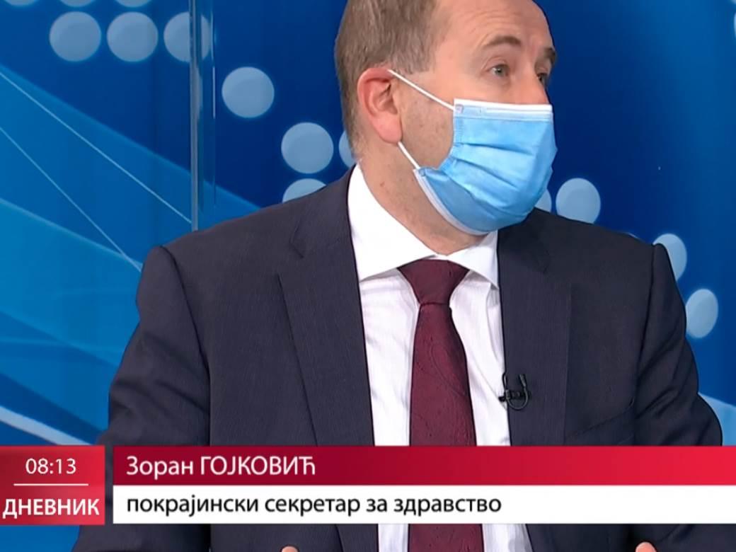 zoran gojkovic s maskom u jutarnjem dnevniku