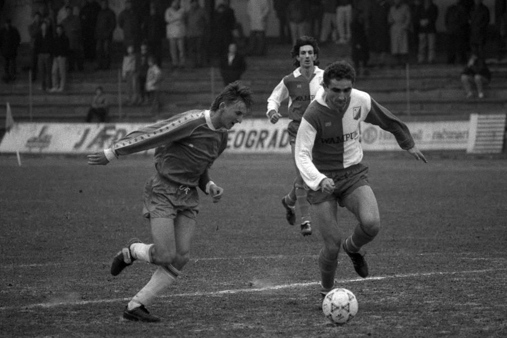 Saša Ćurčić i Goran Kartalija, OFK Beograd - Vojvodina 1991. godine