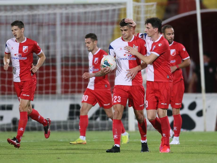 Fudbaleri Vojvodine slave gol.