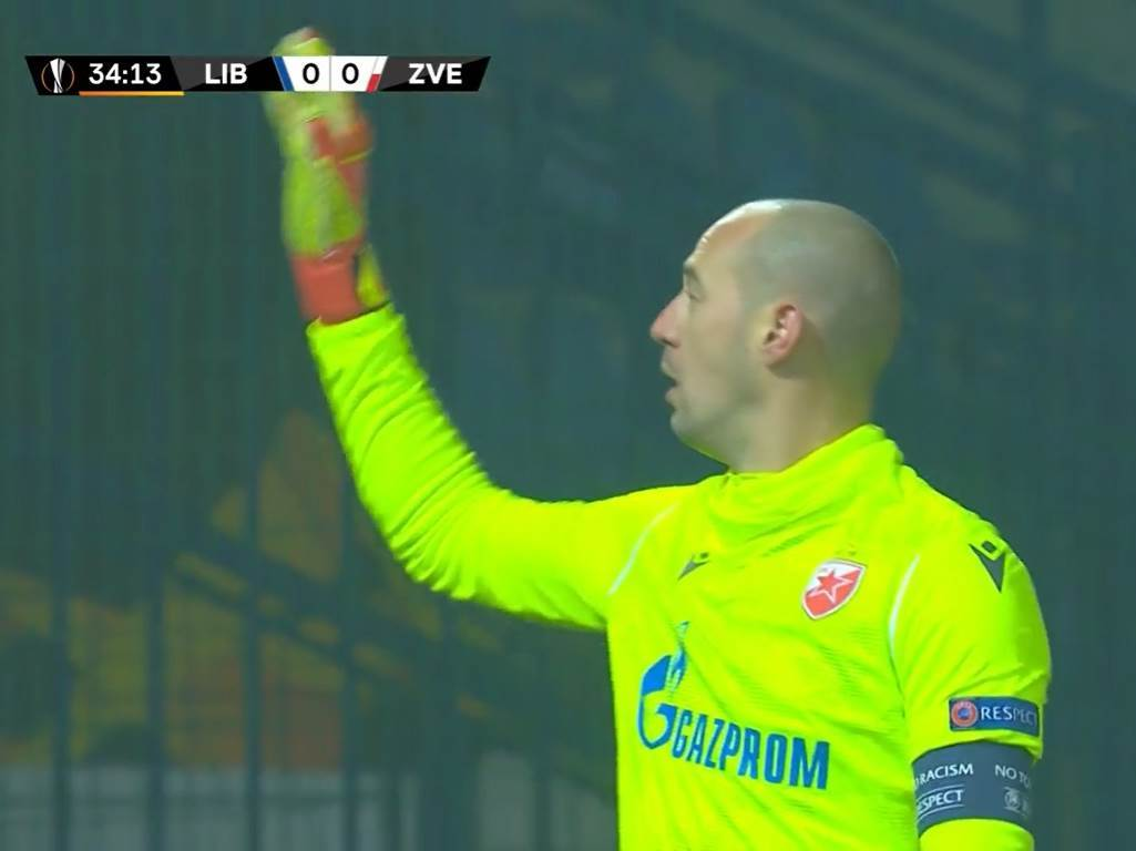 Milan Borjan na Liberec - Zvezda.