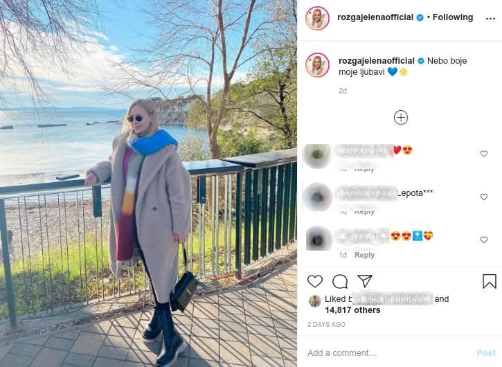 Jelena Rozga Instagram