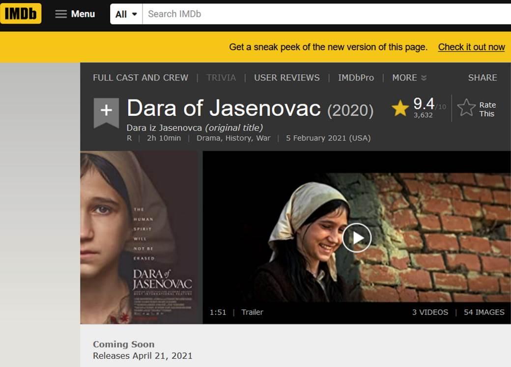 imdb,dara iz jasenovca