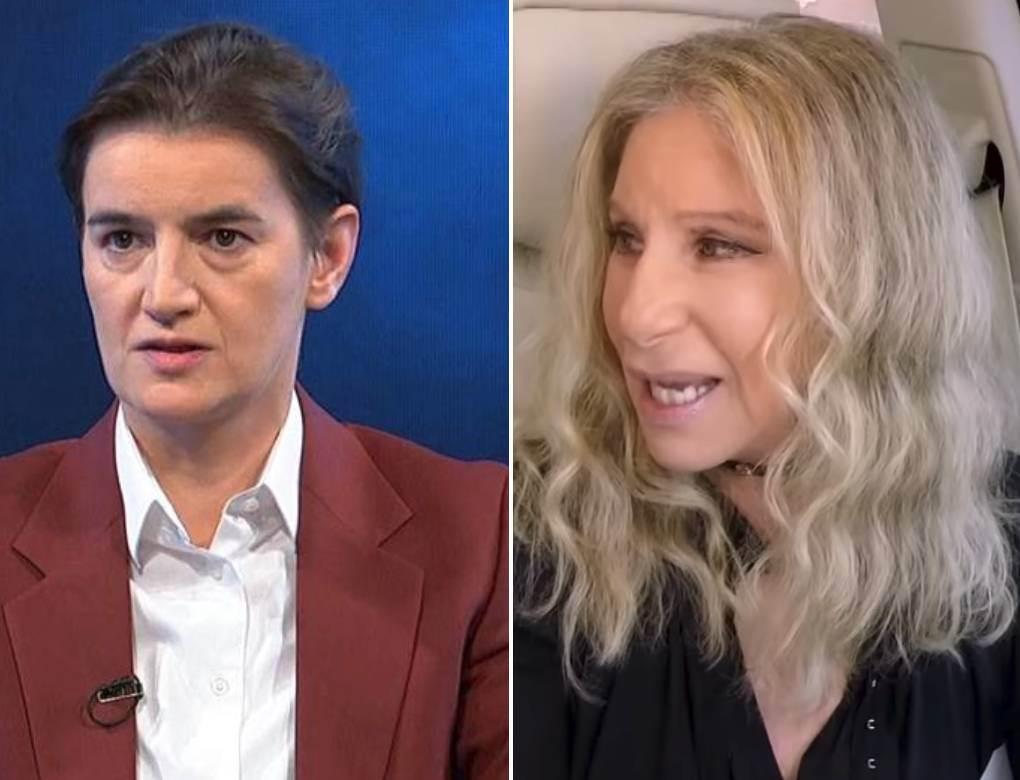 Barbra Strajsend i Ana Brnabic