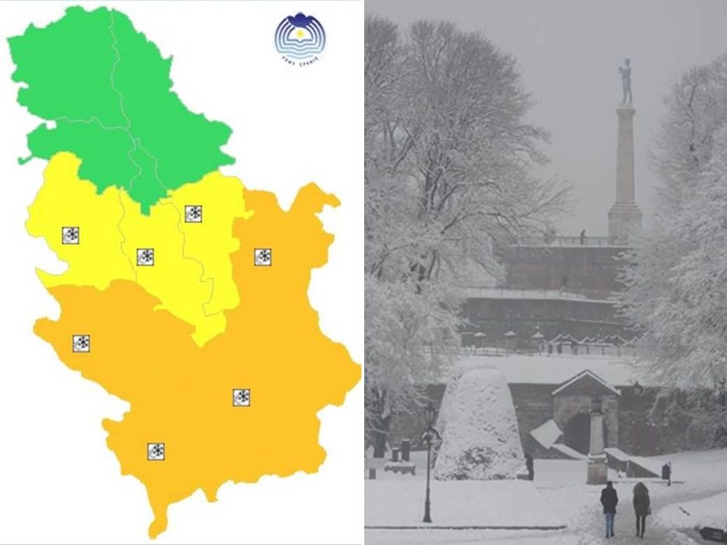 sneg, padavine, ljudi