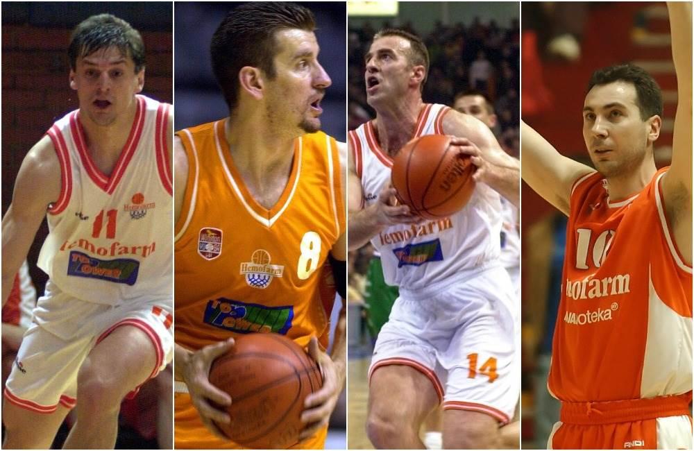 Ljuba Vidačić, Stevan Peković, Marko Ivanović i Zlatko Bolić (KK Hemofarm)