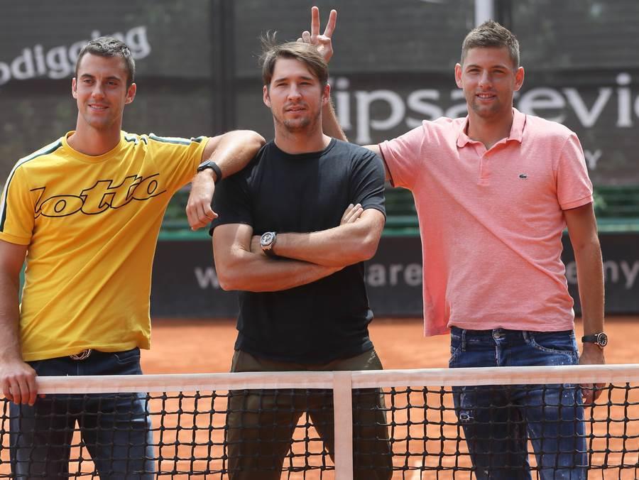 Dušan Lajović, Filip Krajinović, Laslo Đere