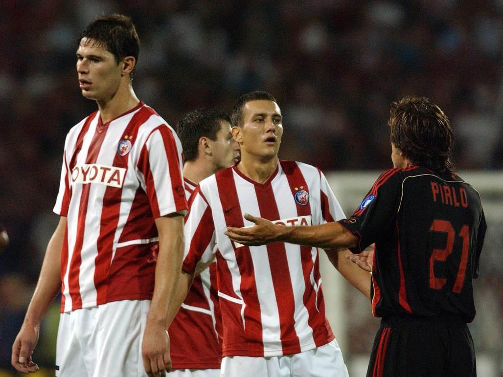 Boško Janković Andrea Pirlo Crvena zvezda Milan