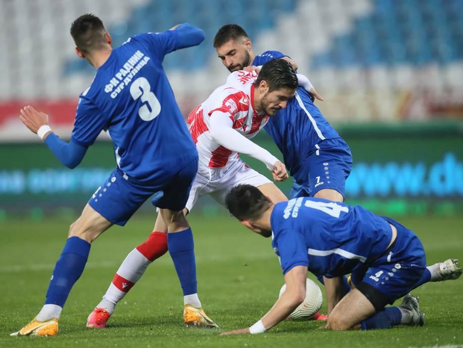 FOOTBALL;SUPERLEAGUE NATIONAL CHAMPIONSHIP;CRVENA ZVEZDA;RED STAR;RADNIK SURDULICA