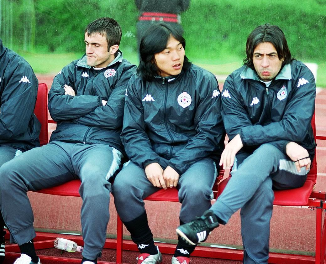 Miroslav Radović, Kim Ći Vu i Dragan Ćirić u Partizanu