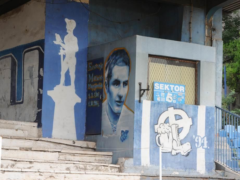 Mural Blagoja Marjanovića na Karaburmi.