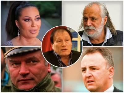 Ceca, Arkan, Rade Šerbedžija, Ratko Mladić, Vlada Perović