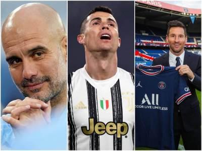 Pep Gvardiola Kristijano Ronaldo Lionel Mesi