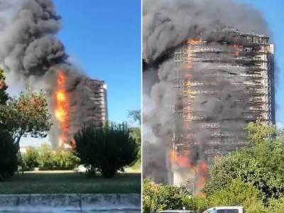 Požar zgrada Italija Milano