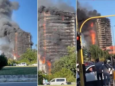Požar zgrada Milano