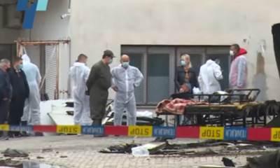 Uviđaj nakon požara u kovid bolnici u Tetovu
