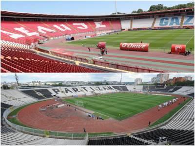 Stadion Zvezde i stadion Partizana
