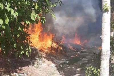Požar na deponiji u Leskovcu