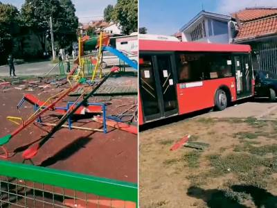 Park, autobus
