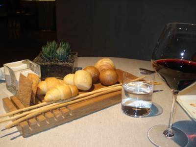 restoran, hleb, vino