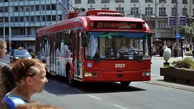 Beograd, centar, trolejbus