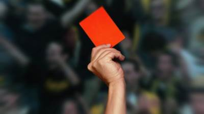 Sudija, crveni, karton